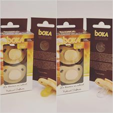 NEW PRODUCT!! The Boka all natural pacifier!!  BOKA pacifier made of locally grown maple wood featuring a 100% natural latex or 100% silicone nipple. BOKA pacifiers are totally safe. Moreover, the surface of the wood is protected by a natural hypoallergenic layer that is air permeable. This unique feature contributes to protecting your baby's healthy looking skin by reducing the amount of humidity trapped behind traditional pacifiers.