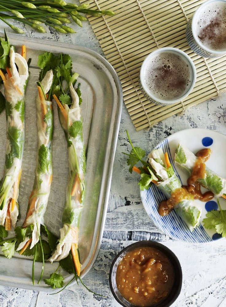 Coconut and Ginger Chicken Fresh Spring Rolls