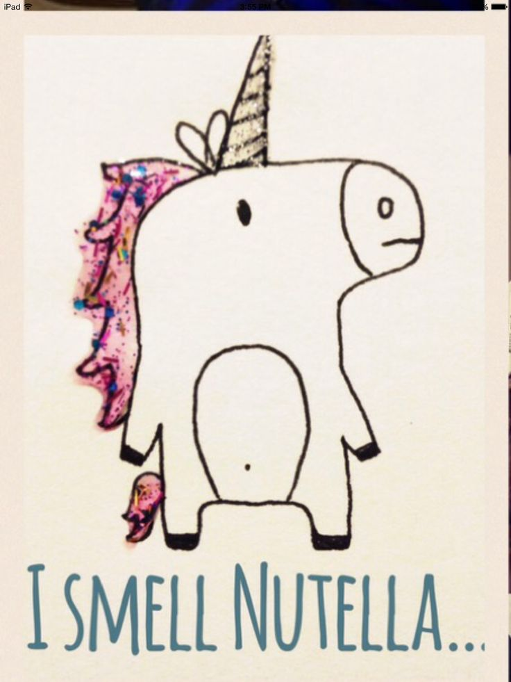 a unicorn smells Nutella
