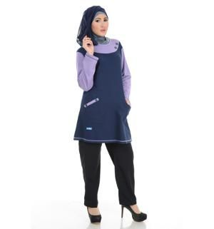 Baju Blouse Tunik ALNITA AA-06 Dongker