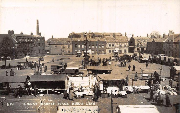 POSTCARD NORFOLK KING'S LYNN Tuesday Market Place RP | eBay