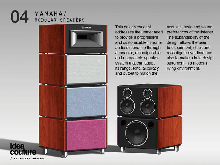 High Quality Speaker Design, Audio Design, Audio System, Speaker System, Yamaha Audio,  Loudspeaker, Speakers, Design Concepts, Industrial Design