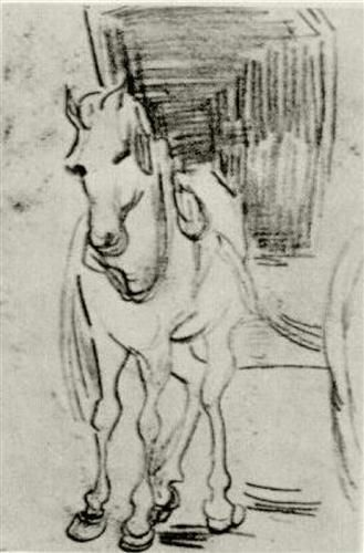 Horse and Carriage - Vincent van Gogh