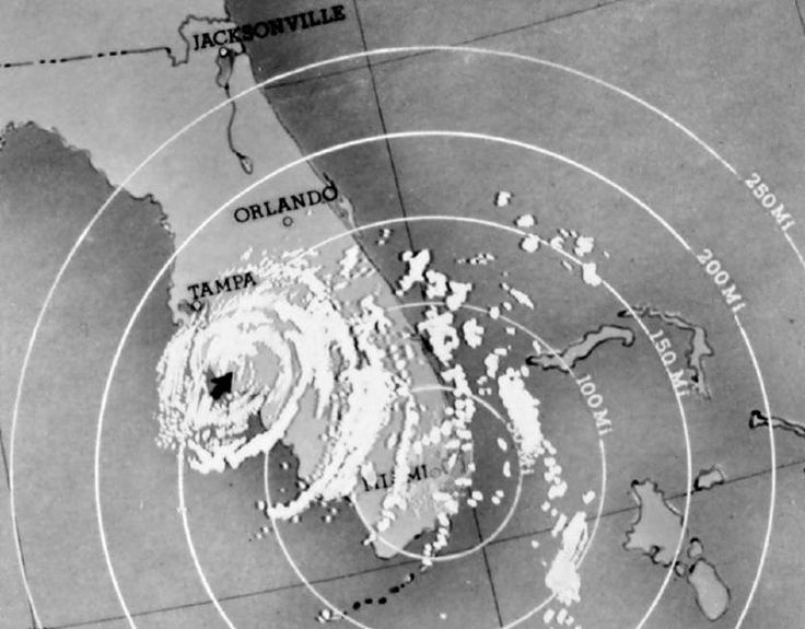 Hurricane Donna over Florida on Sept. 10, 1960.