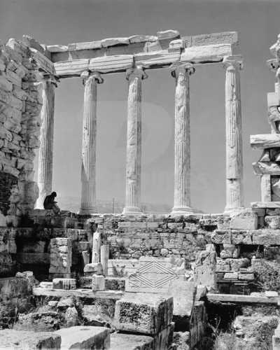 Before the restoration of the Parthenon Athens Acropolis in 1960.