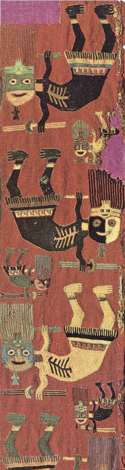"bewarethebibliophilia: ""Textile border ca. 400 CE, Paracas, southern Peru """