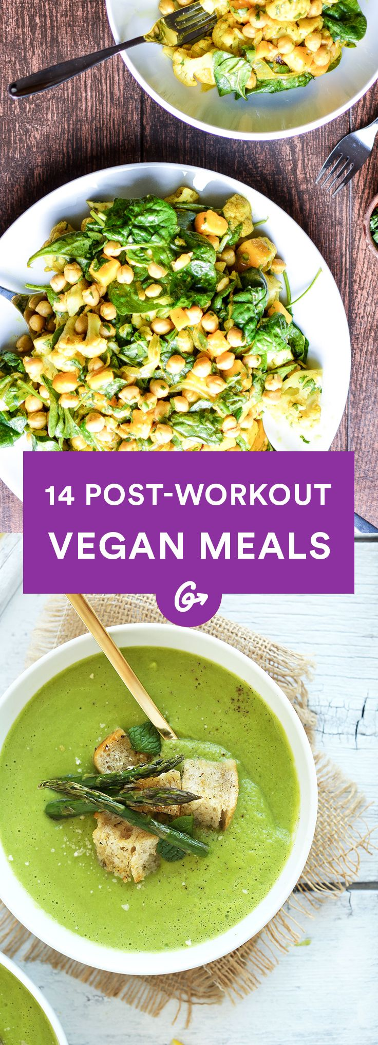 The verdict is in: Muscles don't need meat. #vegan #postworkout #recipes http://greatist.com/eat/vegan-post-workout-meals