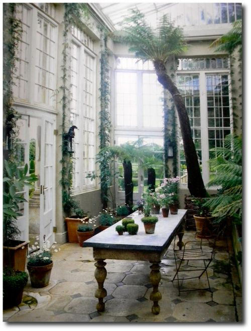 The conservatory in Jasper Conran's country estate, Ven House |  Milborne Port, Somerset, England