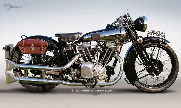 1935 Brough Superior SS100...  A 1920's British muscle bike......