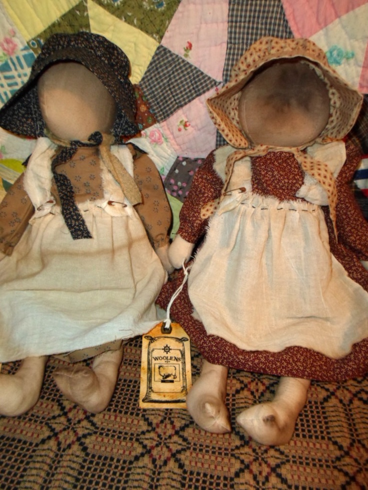 Some of the prairie dolls that I have made.