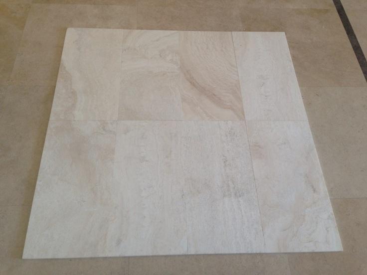 Aida bianco travertine - vein cut, honed & filled