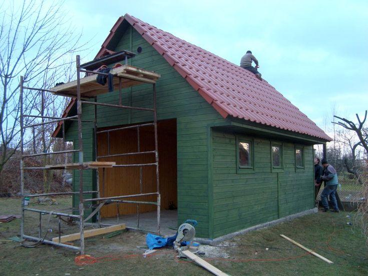 Budowa garażu drewnianego. Jak to zrobić ? budowa dachu 2