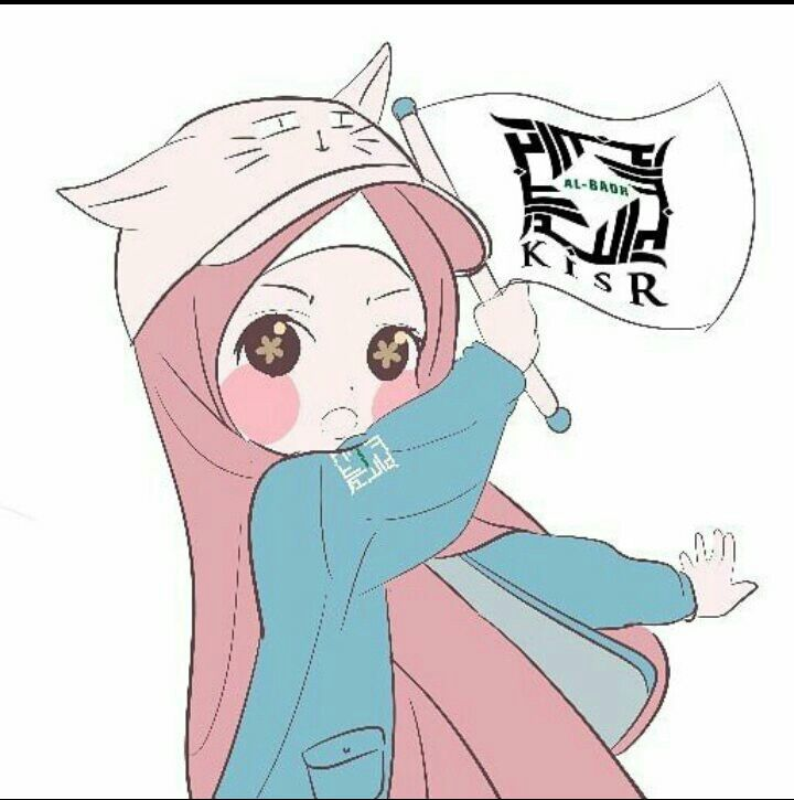 Cute Kawaii Hijab Muslim Girl Art Kartun Meme Binatang Animasi