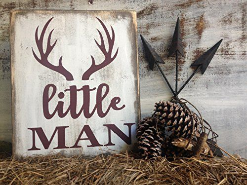 rustic deer nursery sign, little man deer antler sign, rustic nursery décor, woodland nursery sign, deer nursery sign, wood animals nursery, rustic baby shower sign