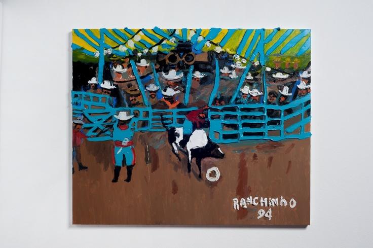 Rodrigo Andrade - 2012 |  Versão sobre obra de Ranchinho Rodeio - 1994 |  Óleo sobre tela sobre mdf |  60 x 93 cm