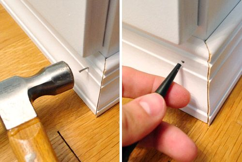 Adding trim to your file cabinet to make it look like a built-in... - side tables for my bed