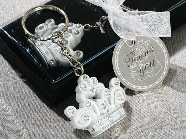 Queen For A Day Sparkling Tiara Keychain Favor  | hotref.com