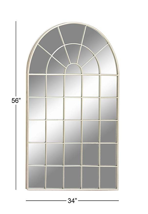 cd93124e1fb3 Amazon.com  Deco 79 53365 Large Silver Cathedral Arched Wall Mirror ...