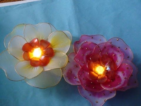 ▶ Stocking flower with light tutorial - YouTube