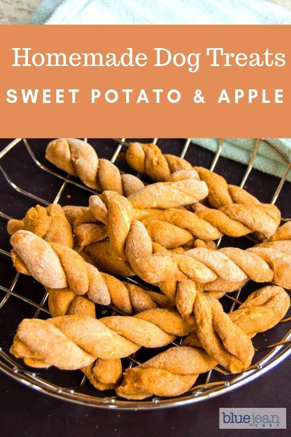 Sweet Potato And Apple Dog Treats Recipe Homemade Dog Cookies