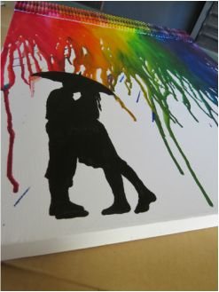 Have a look at my first attempt at crayon art! It is fantastically easy, and looks superb.