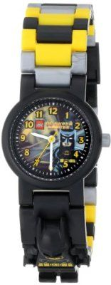 LEGO Kids' 8020264 DC Universe Super Heroes Batman Plastic Watch with Link Bracelet and Character Figurine