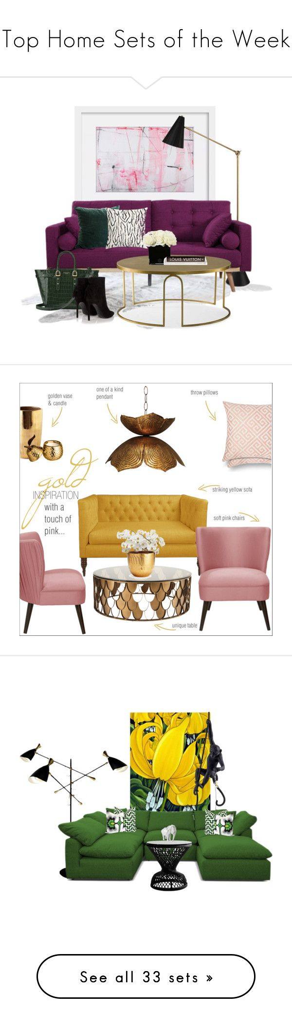 """""""Top Home Sets of the Week"""" by polyvore ❤ liked on Polyvore featuring interior, interiors, interior design, home, home decor, interior decorating, Jonathan Adler, Andrew Martin, Hervé Gambs and Aspinal of London"""