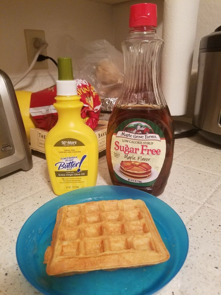 Peanut Butter Protein Waffles. 1 scoop Quest Protein Powder, 1 beaten egg, 1 teaspoon baking powder, 3 Tablespoon water and 1 pkg truvia.. Very yummy. I use two different types of protein powders. Found out that the Quest protein powders make the best waffles. Planning to try again with other flavors.