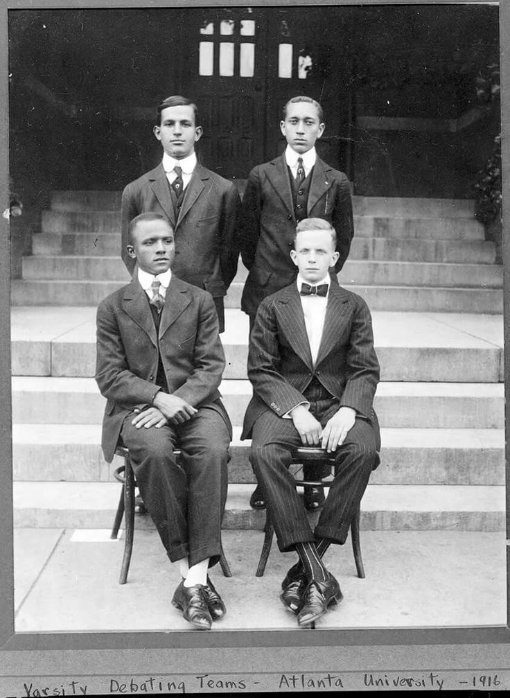 TBT:  The 1916 Atlanta University Debate Team.   Seated on the right is Walter White AU '1916.  Walter Francis White (July 1, 1893 – March 21, 1955) was an American civil rights activist