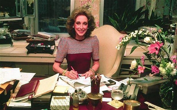 Helen Gurley Brown at her desk