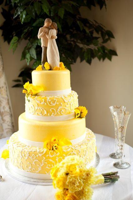 Beautiful Yellow Wedding Cake.