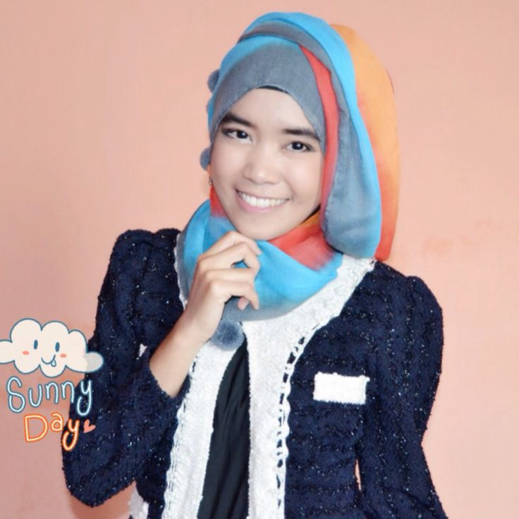 Hijab for wedding party #rainbow #hijab
