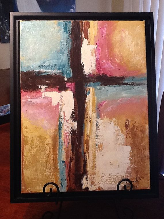 Abstract Cross original  Art My Light painting by Florinda on Etsy, $60.00