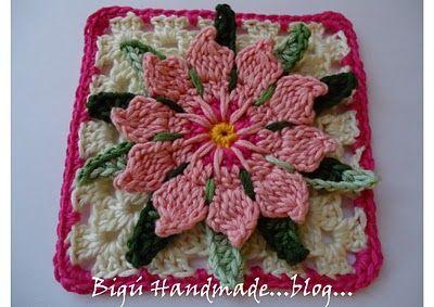 Bigú Handmade: Granny Flor de Cactus...Cactus Flower Granny... english translation included