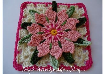 Cactus Flower Granny... has pattern