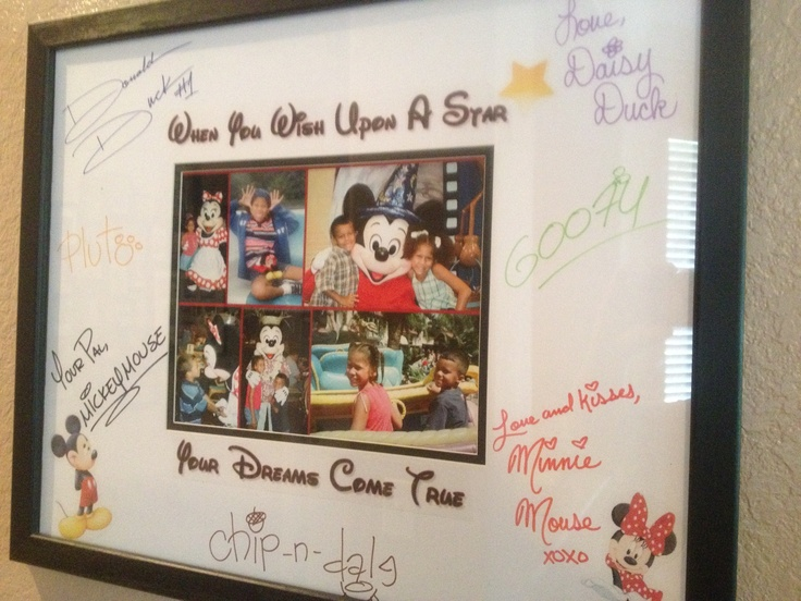 Autographed Mat From A Cruise Amp Past Disney Pics Of My