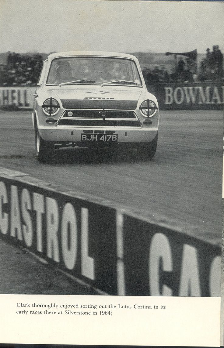 jim clark book caption clark thoroughly enjoyed sorting out the lotus cortina