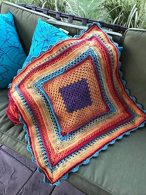 Crochet Afghan Patterns Using Caron Cakes