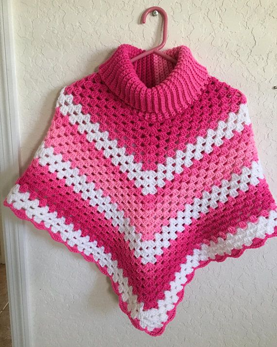 woolen poncho Woolen crochet poncho top Baby poncho hand knitted in 100/% soft wool toddler girl poncho baby poncho crochet poncho