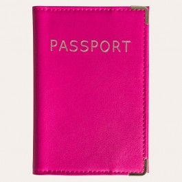 Passport cover in Magenta! Perfect for finding your passport in an very full carry on bag.