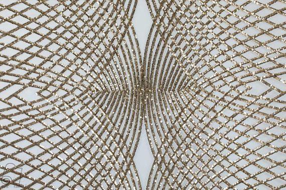 Sequin Lace Fabric By The Yard Telas Por Metro Zig Zag Diamond