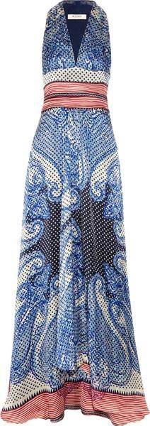 ETRO imprimé soie Maxi robe...!!!