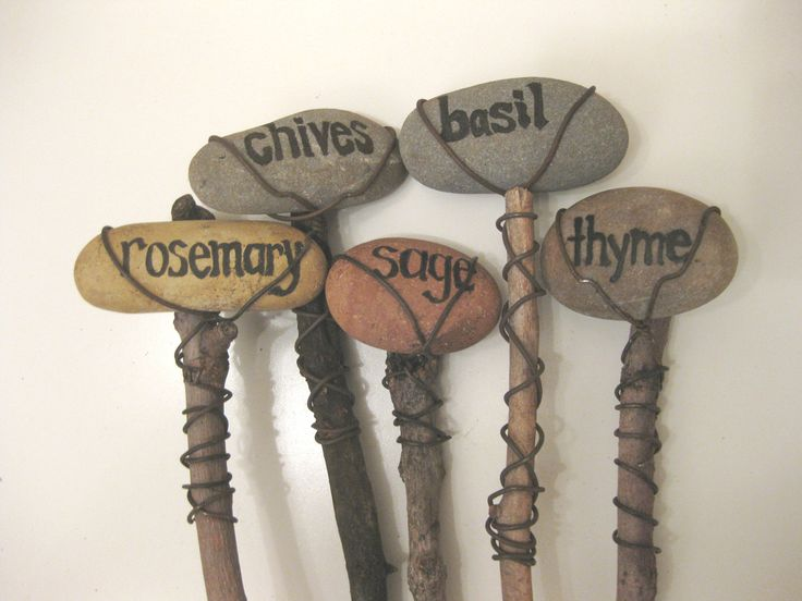 Set of 5 Plant Herb Garden Marker - Custom Order Choice of Plants or Herbs. $40.00, via Etsy.