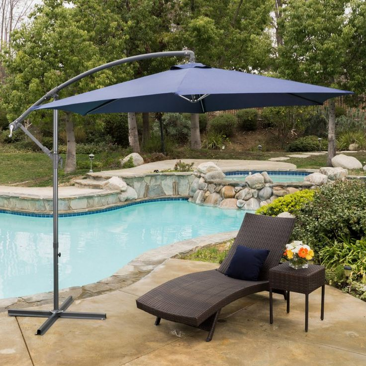 Great Cantilever Patio Umbrella   Enjoy A Little Extra Shade Anywhere You Need It  With The Best Selling Home Decor Furniture Maria 10 Ft. Nice Look