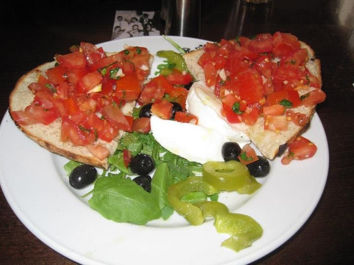 Bruschetta at San Remo Italian restaurant, London