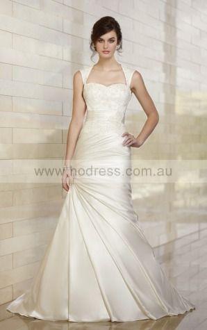 A-line Sweetheart Natural Sleeveless Asymmetrical Wedding Dresses wes0190--Hodress
