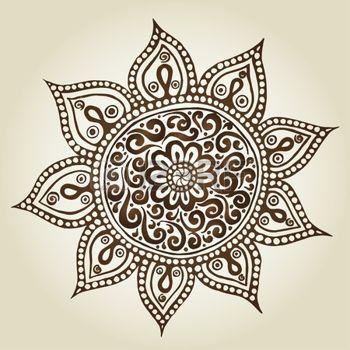motif marocain: Mandala. Round ornement. Fleurs ornementales. Vector set avec des éléments floraux abstraits dans le style indien