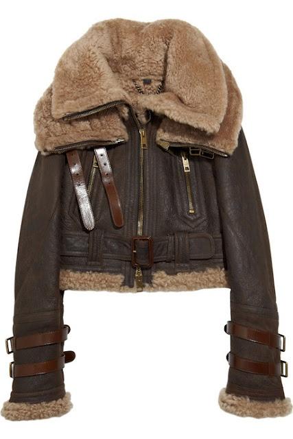 Burberry Shearling Aviator Jacket. Want.