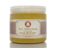 Yellow Unrefined Shea Butter   is renowned for its high healing fraction and amazing therapeutic powers. Shea butter contains Vitamin A, Vitamin E and cinnamic acid which are essential elements for maintaining healthy and vibrant skin.