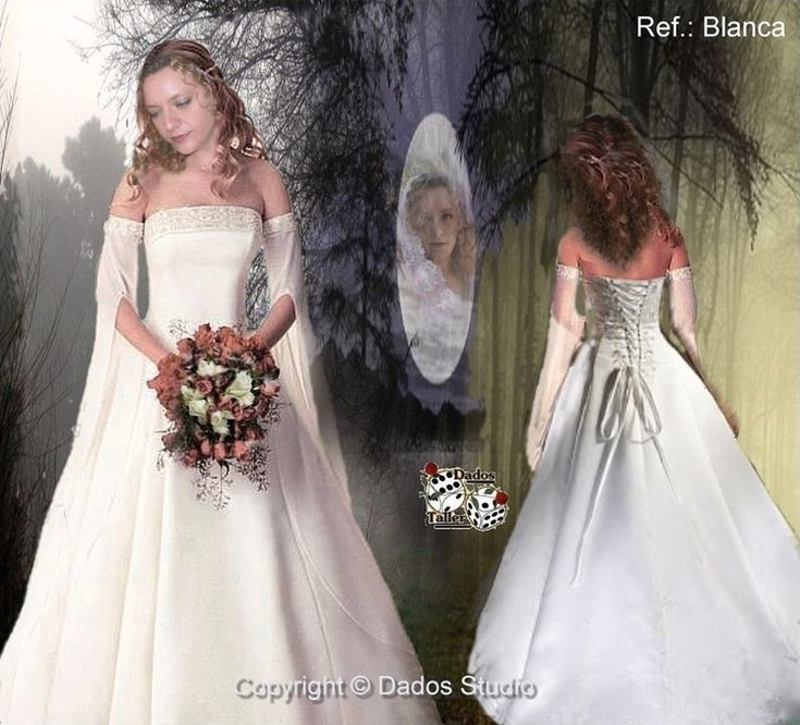 Vestidos De Novia Medievales, Vestidos Góticos Y Vestidos élficos con Vestidos De Novia Goticos - Vestido de novia de la foto
